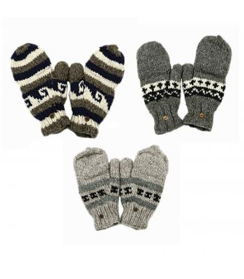 Woolen Natural  Cover Gloves