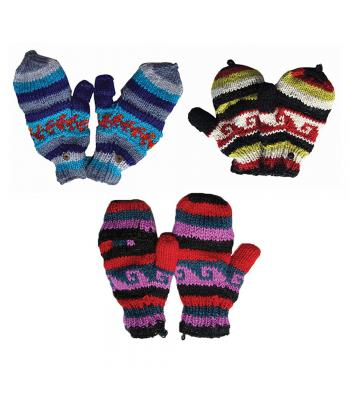 Colored Woolen Gloves